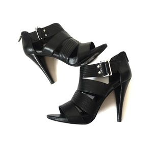BCBGENERATION Black Strappy Heels Size 6 1/2